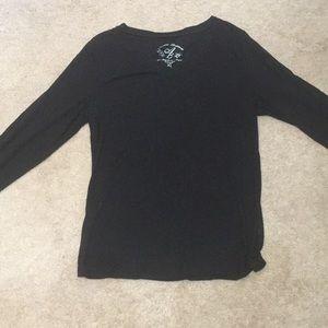 (3/$15) Allison Brittney long sleeved black shirt